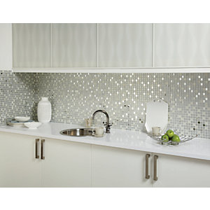 Wickes Mirror Glass Mosaic - 306 x 306mm