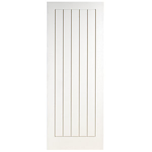 Wickes Geneva Internal Cottage White Primed 5 Panel Moulded Door - 1981 x 610mm