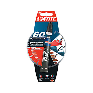 Loctite 60 Seconds Solvent Free Multi Purpose Glue - 3g