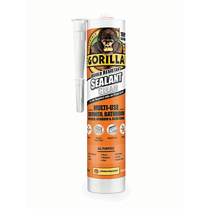 Gorilla Mould Resistant Sealant - Clear 295ml