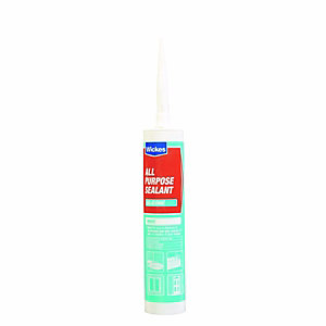 Wickes All Purpose Silicone Sealant - White 310ml