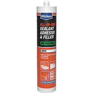 Wickes All in 1 Adhesive & Filler Sealant - White 310ml