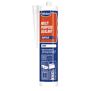 Wickes Multi-Purpose Acrylic Sealant - White 310ml