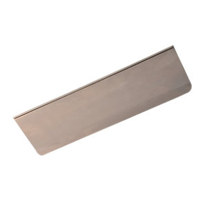 Wickes Letter Plate Tidy - Satin Nickel 279 x 82mm