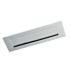 Wickes Letterbox - Chrome 76 x 254mm