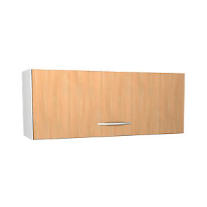 Wickes Oakmont Slab Narrow Wall Unit - 900mm