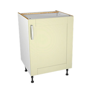 Wickes Ohio Cream Shaker Base Unit - 600mm