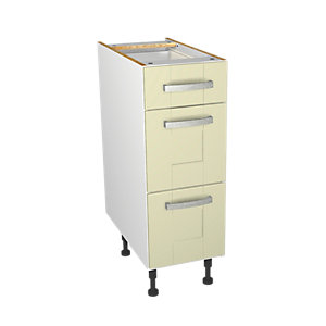 Wickes Ohio Cream Shaker Drawer Unit - 300mm