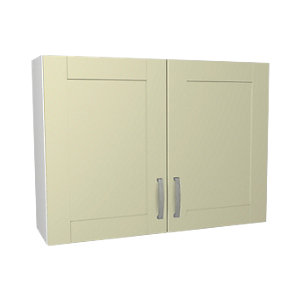 Wickes Ohio Cream Shaker Wall Unit - 1000mm