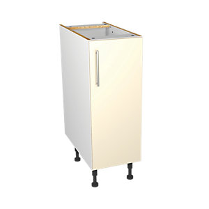 Wickes Orlando Cream Gloss Slab Base Unit - 300mm