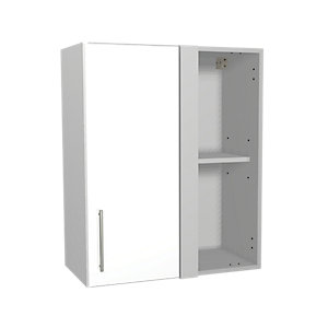 Wickes Orlando White Gloss Slab Corner Wall Unit - 600mm