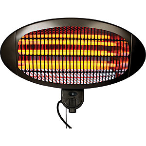 La Hacienda Quartz Wall Mounted Outdoor Heater Black