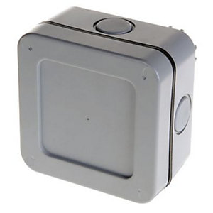 Masterplug Exterior 5 Way Terminal Junction Box - Grey 100mm