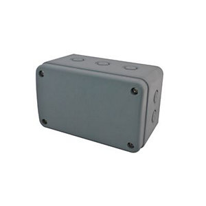 Masterplug Exterior Large Junction Box - Grey