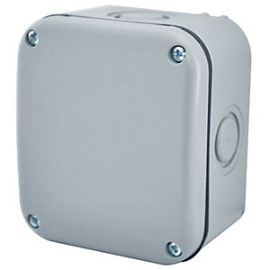 Masterplug Small Exterior Junction Box - Grey