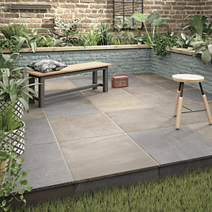 Wickes Holkham Grey Multi Outdoor Porcelain Tile 600 x 600mm