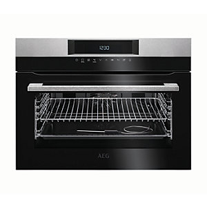 AEG Built-In Compact Sense Cook Multifunction Stainless Steel Electric Oven KPK742220M