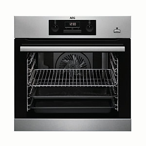 AEG Steam Bake Single Multifunction Stainless Steel Electric Oven BEK351010M