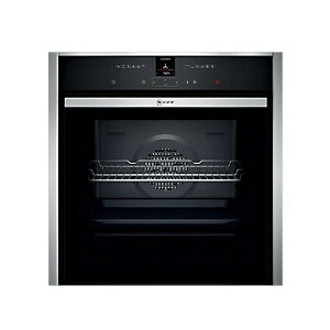 NEFF Built-In Single Multifunction Slide & Hide Black Pyrolytic Oven B57CR22N0B