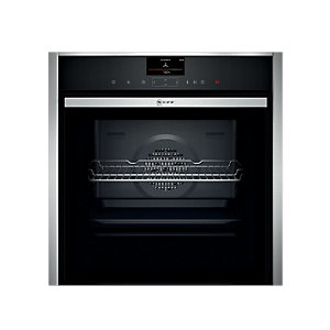 NEFF Built-In Single Multifunction Slide & Hide Black Steam Oven B47VS34N0B