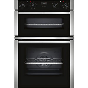 NEFF Built-In Stainless Steel Double Oven with Circotherm U1ACE5HN0B