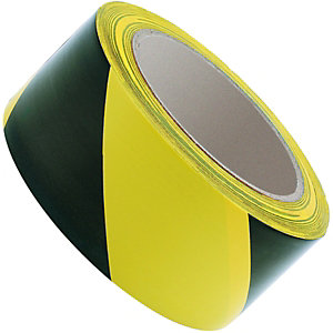 Wickes Hazard Tape - Yellow & Black 50mm x 33m