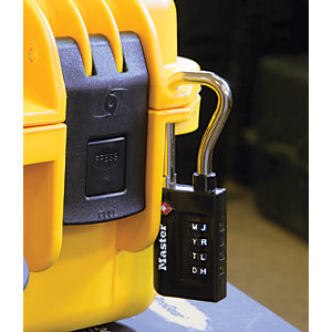 Master Lock TSA 4 Digit Combination Heavy Duty Travel Padlock - 35mm