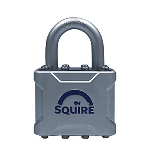 Squire Die Cast Body Cover with Boron Shackle Padlock - 40mm