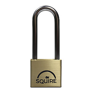 Squire LN4-2.5 Lion Padlock Long Shackle - Brass 40mm