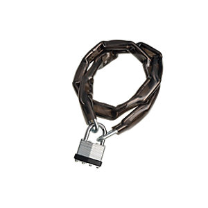Wickes Laminated Padlock & Chain PVC Coated - 40mm