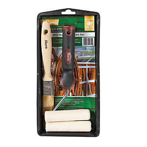 Harris Transform Mini Roller Woodcare Set - 4""