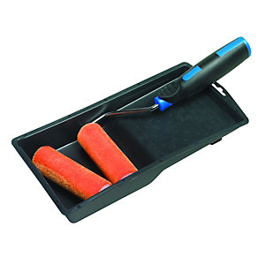 "Wickes 4"" Smooth Finish Flock Roller Set"