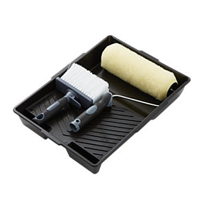 "Wickes 9"" Masonry Roller Set & Brush"