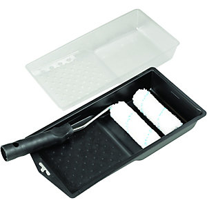 Wickes Microfibre Roller & Tray Set - 4in
