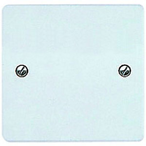 MK Single Blanking Plate - White