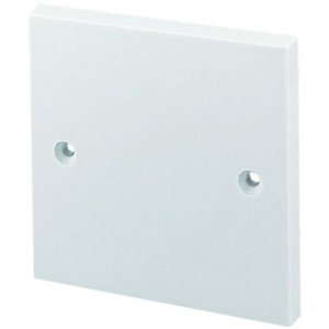 Wickes Single Blanking Plate - White