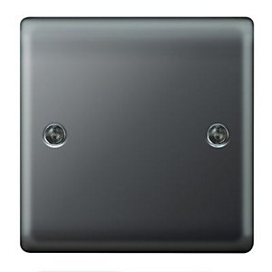 Wickes Single Raised Blanking Plate - Black Nickel