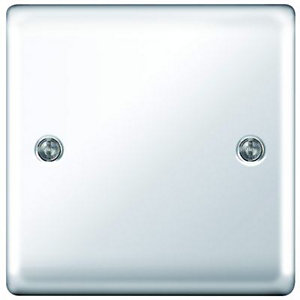 Wickes Single Raised Blanking Plate- Polished Chrome