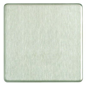 Wickes Single Screwless Flat Blanking Plate - Brushed Steel