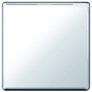 Wickes Single Screwless Flat Blanking Plate - Polished Chrome