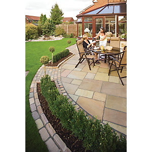 Marshalls Antique Alverno Autumn Bronze Paving Slab Mixed Size - 15.5 m2 pack