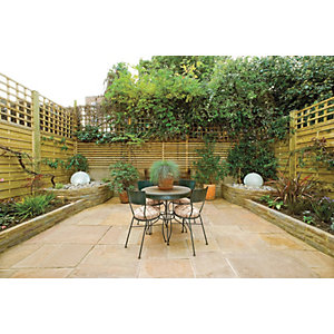 Marshalls Antique Alverno Golden Sand Mixed Size Paving Patio Pack - 15.5 m2