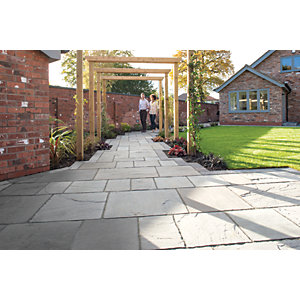 Marshalls Antique Alverno Silver Birch Paving Slab Mixed Size - 15.5 m2 pack