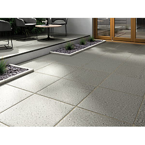 Marshalls Argent Coarse Dark Grey Paving Slab 600 x 600 x 38 mm