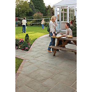 Marshalls Coach House Riven Pennant Grey Paving Slab Mixed Size Pack B - 9.7 m2 pack