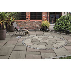 Marshalls Fairstone Riven Harena Silver Birch 2 Circle Paving Kit - 6.3m2 pack