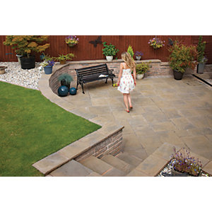 Marshalls Heritage Riven Calder Brown Paving Slab 300 x 300 x 38 mm - 3.96m2 pack