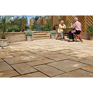 Marshalls Heritage Riven Yorkstone Paving Slab 300 x 300 x 38 mm - 3.96m2 pack