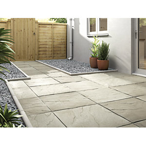 Marshalls Pendle Riven Grey Paving Slab 600 x 600 x 38 mm
