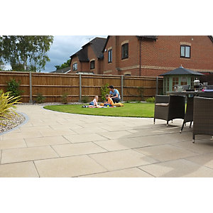 Marshalls Perfecta Smooth Natural Paving Slab 600 x 600 x 35 mm - 10.8m2 pack